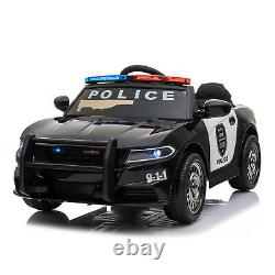 Ride On 12v Kids Electric Police Style Batterie Télécommande 2.4g Voiture Jouet