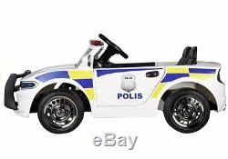 Riiroo Police Pursuit 12v Électrique Tour Sur La Voiture Avec 2.4g Télécommande Et Musique