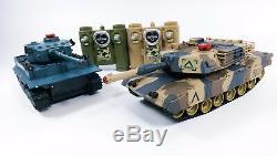 Rtr Télécommande Rc Infrarouge Combat De L'armée Militaire Tir Set Réservoir De 2 Toy
