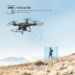 Saint Pierre Hs120d Selfie Fpv Drone Avec 1080p Caméra Quadcopter Gps Fellow Me