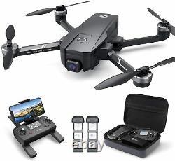 Sainte Pierre Hs720e Hs105 4k Eis Caméra Eis Rc Drone 5g Gps Quadcopter Sans Brosse Sans Brosse + Étui