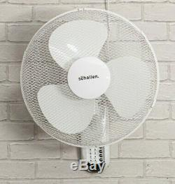 Schallen 16 Oscillant Murale De L'air Frais Du Ventilateur Avec Minuterie Et À Distance En Blanc