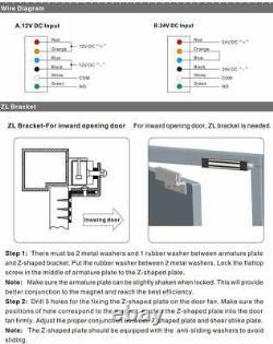 Serrure Magnétique Électrique De Porte Extérieure Avec Le Kit Sans Fil De Télécommande