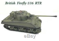 Sherman Firefly 1/16 Avec 2 Sons Uk Télécommande Radio Rc Rc 2.4g