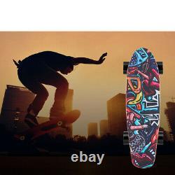 Skateboard Électrique 350w E-skateboard Avec Contrôle De Distance 20km/h Adulte Unisexe Nouveau