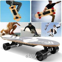 Skateboard Électrique Avec Contrôle À Distance, Longboard Électrique 350w Cadeau Adulte/kid Uk