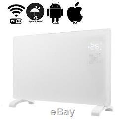 Smart Wifi Control App 2000w En Verre Blanc Radiateur Électrique / Mur Chauffant Panneau