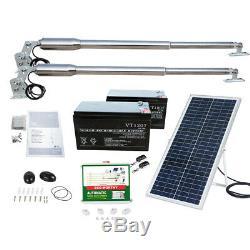 Solar Electric Swing Ouvre-barrière Kit Porte Opérateur Double Bras Withremote Contrôle