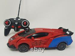 Spiderman Transforming Avengers Radio Remote Control Car 360 Stunt