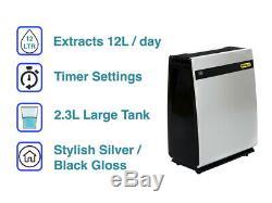 Stanley 12 Litres Déshumidificateur Pour 4 Maisons De Lit Portable Damp Contrôle 12l