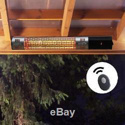 Support Mural Extérieur Électrique Halogène Chauffage Chaud Avec Noir Télécommande