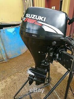 Suzuki Df 15hp 4 Temps Commande À Distance Démarrage Électrique Moteur Hors-bord Arbre Court