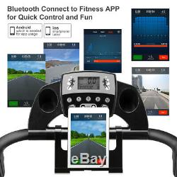 Tapis Roulant Motorisé Électrique 12programs Bluetooth App Avec Moniteur De Fréquence Cardiaque Uk