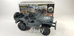 Télécommande Rc Military Ww1 Us Army Willys Jeep Modèle 4x4 Off Road Truck Rtr