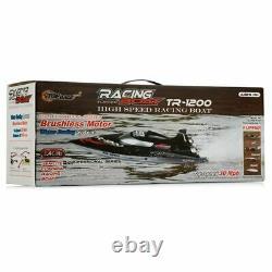 Top Race Remote Control Rc Boat Professional Series Tr-1200 Noir 30 Mph