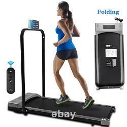 Uk Folding Electric Treadmill Running Walking Fitness Machine Avec Télécommande + Poignée