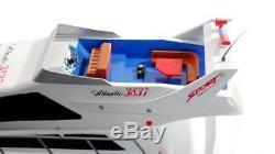 Uk Radio 74cm Remote Control Twin Helice Ocean Atlantique Bateau À Moteur Yacht Rc