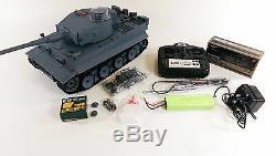 Uk Radio Télécommande Rc Militaire Tank Heng Long 2.4g Allemand Tiger V6.0 Modèle