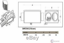 Unité De Récupération De Chaleur Cflo100 Contrôleur De Ventilateur 100m3 / H Pour Toute La Maison