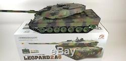 V6 2.4g Rc 116 Heng Long Leopard 2a6 Réservoir Airsoft Fumer Réservoir Télécommande
