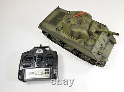 Vente Télécommande USA Ww2 Sherman Rc Smoke Sound 2.4g Army Battle Tank Modèle