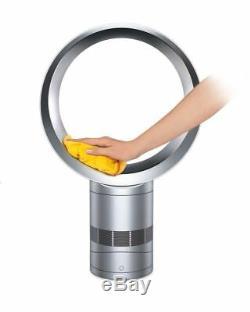 Ventilateur De Bureau Dyson Cool Am06, Blanc / Argent Remis À Neuf, Garantie De 1 An