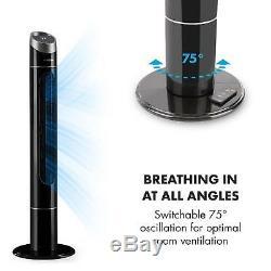 Ventilateur De Tour À Air 3 Modes De Refroidissement À La Maison Portatif À Télécommande Tactile 40w Noir