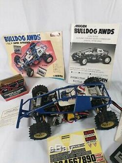 Vintage Rare Mugen Bulldog Awds Rc Car Offroader Retro Poussette Télécommande