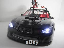 Voiture De Dérive Télécommandée Sur Échelle Au 1/10 Rc Subaru Impreza Wrc Black