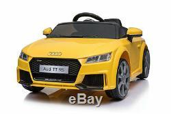 Voiture De Jouet Télécommandée Pour Enfants Audi Ttrs Electric 12v Sous Licence