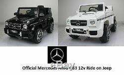 Voiture Électrique Jeep Électrique + Télécommande Parentale Pour Mercedes Amg G63 12v
