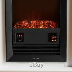 Vonhaus 2kw Fireplace Suite / Poêle Électrique Avec Façade Murale 24hr Télécommande