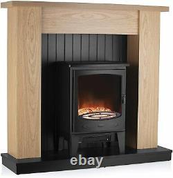 Warmlite Cambridge Electric Fireplace Suite, Réglable-thermostat-led
