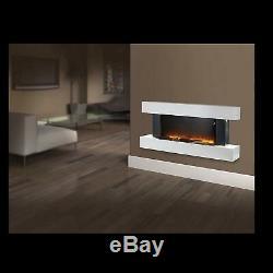 Warmlite Wl45033n Hingham Murale Électrique Led Cheminée Flamme Effet Nouveau