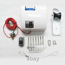 White Saltwater Anchor Électrique Treuil De Treuil De Bateau Avec Télécommande 25lbs