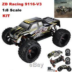 Zd Racing 9116-v3 1/8 Électrique Rc Camion 4 Roues Motrices Kit Cadre Bricolage Voiture Télécommandée